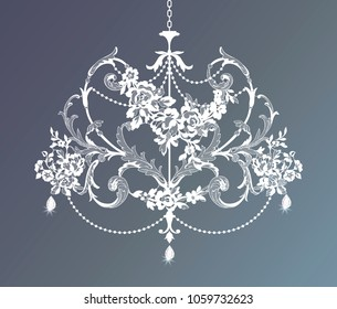 silhouette vintage lace crystal chandelier
