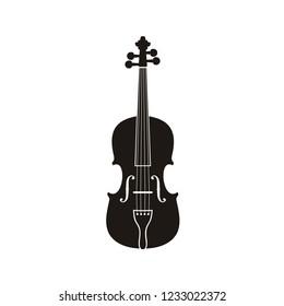 Silhouette of Violin