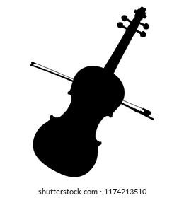 silhouette of a violin vector