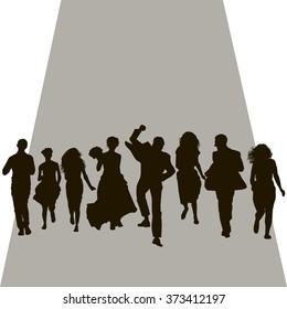 silhouette wedding run
