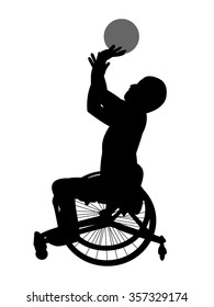 Silhouette of the wheelchair basketball