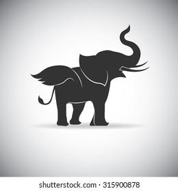 Silhouette Wings Elephant