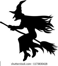 photograph about Witch Silhouette Printable referred to as Witch Silhouette Visuals, Inventory Pics Vectors Shutterstock