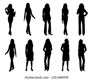silhouette woman cartoon shape vector design