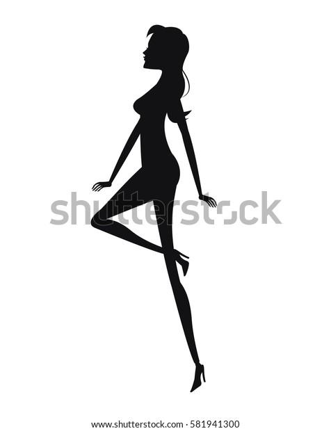 silhouette woman fashion slim