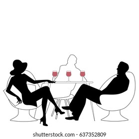 woman from 1920s drinking images stock photos vectors shutterstock 1980s Art Deco silhouette of woman with hat drinking white wine vector illustration