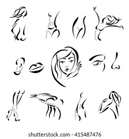 silhouette of woman for plastic surgery