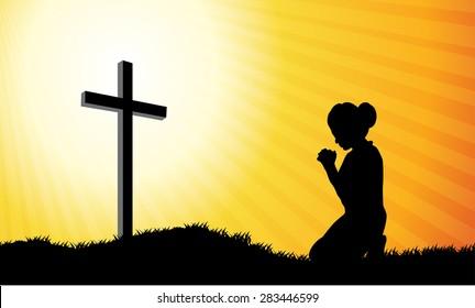 Kneeling Cross Images, Stock Photos & Vectors | Shutterstock