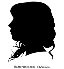 silhouette of a woman in profile