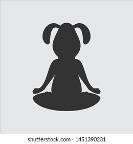 silhouette of yoga dog. vector. illustration
