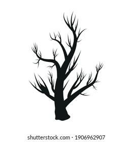 Silhouetted tree art vector  illustration