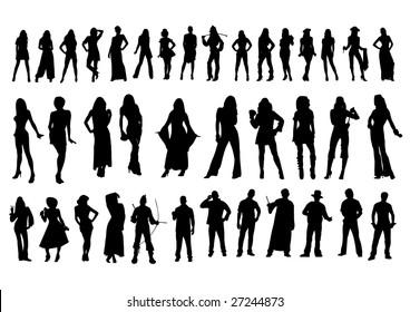 Silhouettes bodies