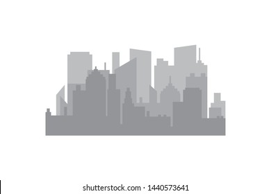 Silhouettes of buildings, Vector illustration
