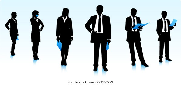 Silhouettes of businessmen
