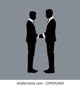 Silhouettes of Gay couple Vector