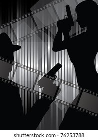 silhouettes with gun and filmstrips (also available jpg version)
