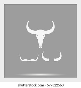 Silhouettes of horns icon.