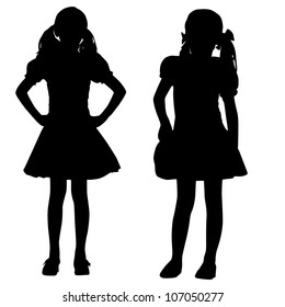 Little Girl Silhouette Images Stock Photos Amp Vectors