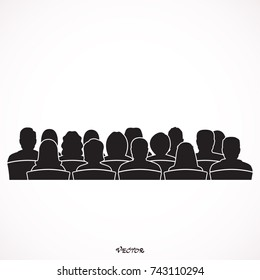 Silhouettes of Male, Female, Audiences.