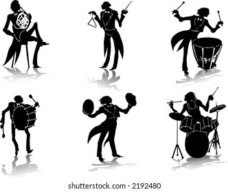 Silhouettes of musicians (3)