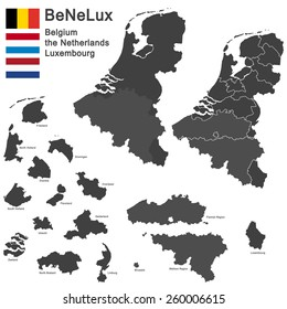 silhouettes of the netherlands, Luxembourg and Belgium