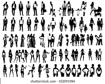 Silhouettes of people