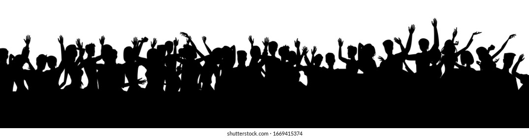silhouettes of people dancing at the fun festival