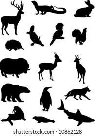silhouettes wild animals 2
