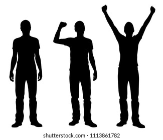 silhouettes of winners and losers