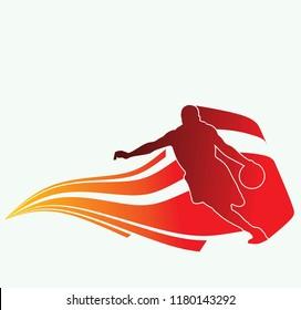 silhourtte of basketball sport