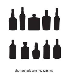 Silhoutte of drink bottles