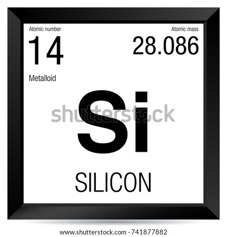Silicon Symbol Element Number 14 Periodic Stock Vector Royalty Free