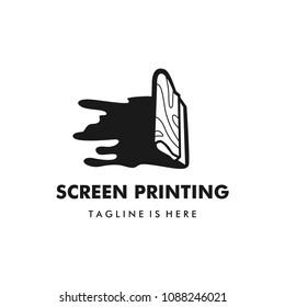 silk screen printing vector logo template