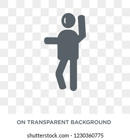 silly human icon. Trendy flat vector silly human icon on transparent background from Feelings collection.