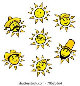 Silly Sun Illustrations