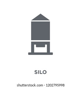 Silo icon. Silo design concept from Agriculture, Farming and Gardening collection. Simple element vector illustration on white background.