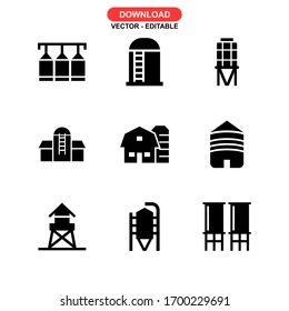 silo icon or logo isolated sign symbol vector illustration - Collection of high quality black style vector icons