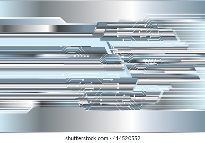 Silver abstract hi speed internet technology background illustration. eye scan virus computer. motion move. vector