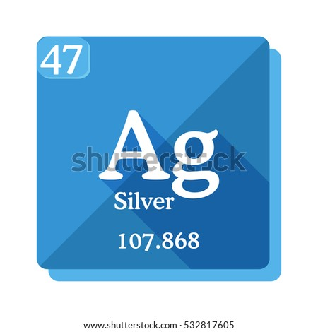 Silver Ag Element Periodic Table Flat Stock Vector Royalty Free