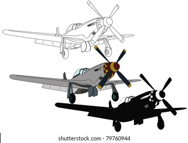 Silver aircraft with a propeller