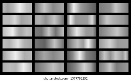 Silver background texture vector icon seamless pattern.  Metallic gradient illustration gradation for backgrounds, banner interface. Brilliant plates with silver effect.