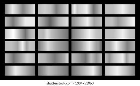 Silver background texture vector icon seamless pattern. Metallic gradient illustration gradation for backgrounds, banner interface. Vector illustration EPS10