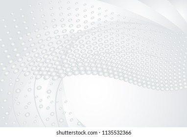 Silver banner for your design, vector