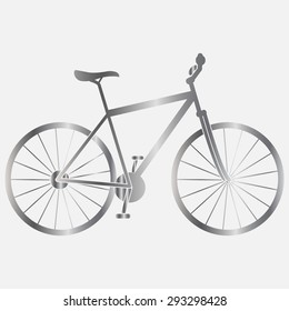 Silver Bicycle icon