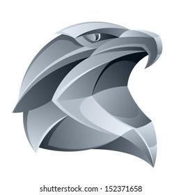 Silver eagle head