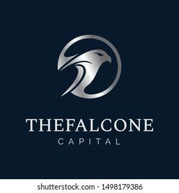 Silver Falcon Inside Circle Logo for Capital