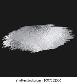Silver foil brush stroke.