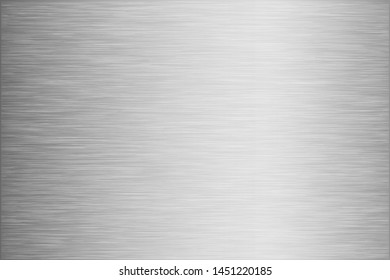 Silver foil scratched chrome metal texture vector icon set. Shiny silver brushed vector metallic gradient background for banner, label, button. Grunge silver vintage abstract gradient collection