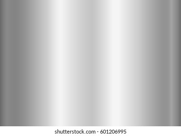 Silver foil texture background. Grey vector elegant, shiny and metal gradient template for steel border, frame, ribbon design