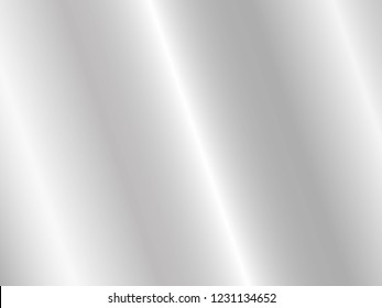 Silver foil texture background. Vector shiny and metal steel gradient template for chrome border, silver frame, ribbon or label design.